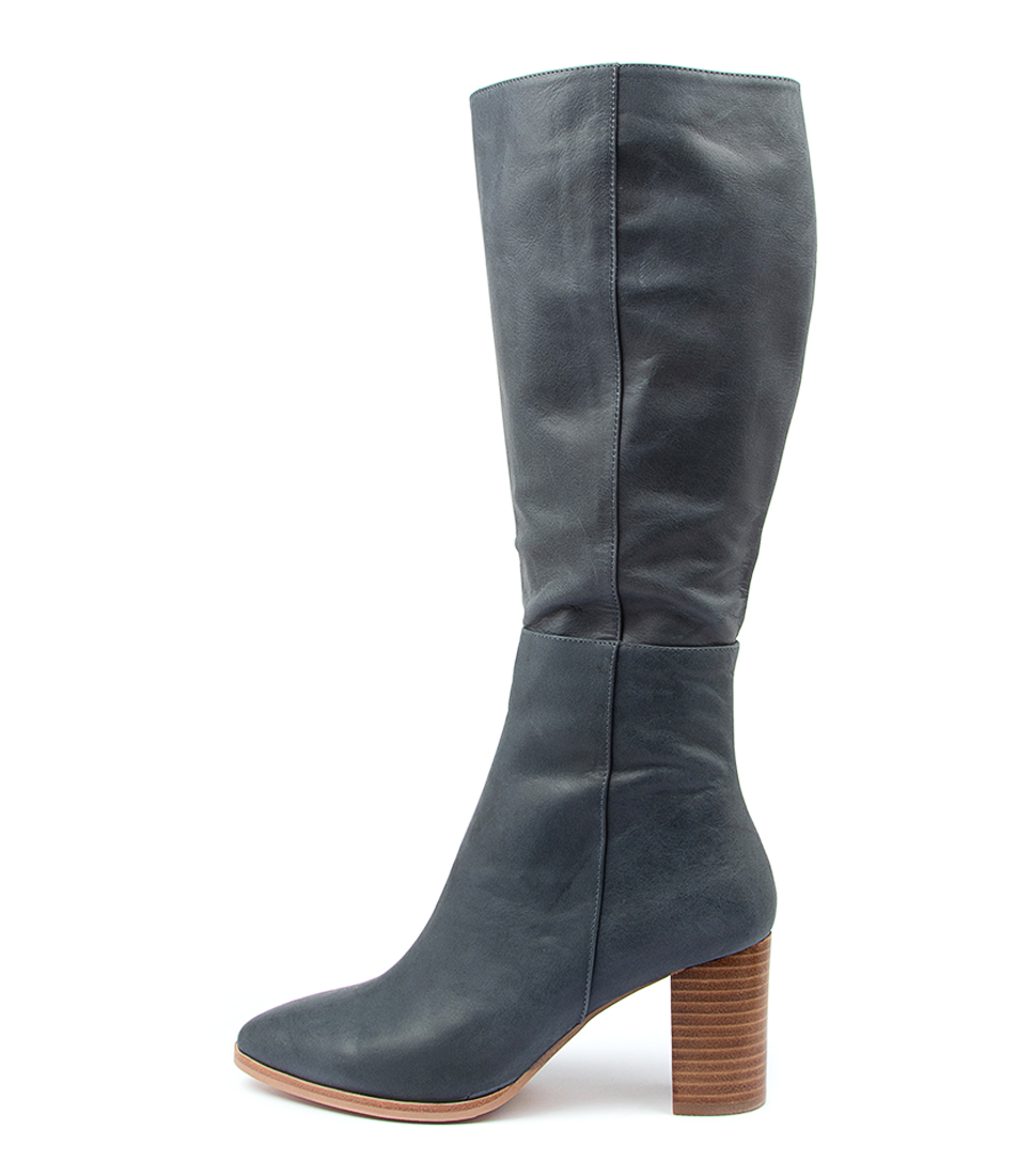 Buy Top End Allouta To Navy Calf Boots online with free shipping