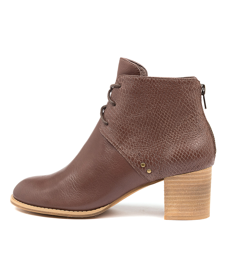 Buy Top End Sizzler Djto Mocca Print Ankle Boots online with free shipping