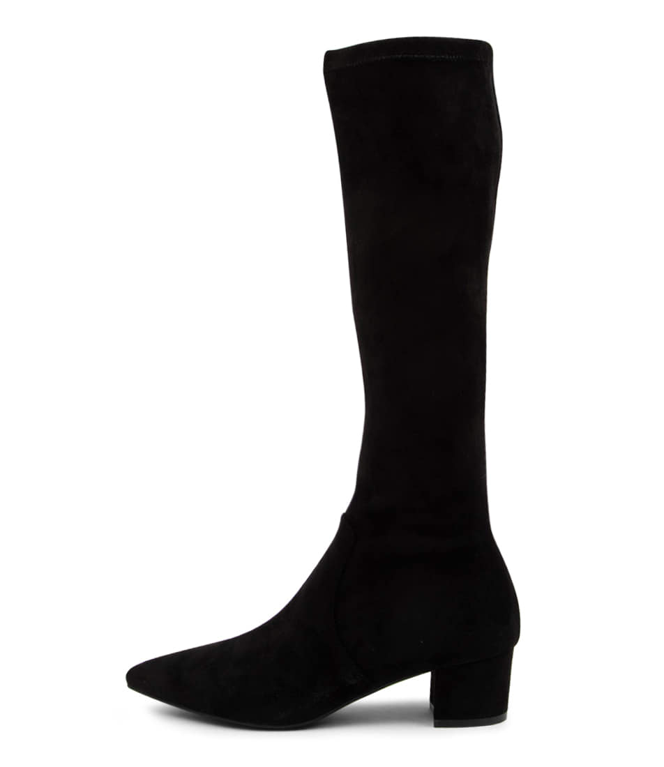 Buy Top End Alia To Black Long Boots online with free shipping