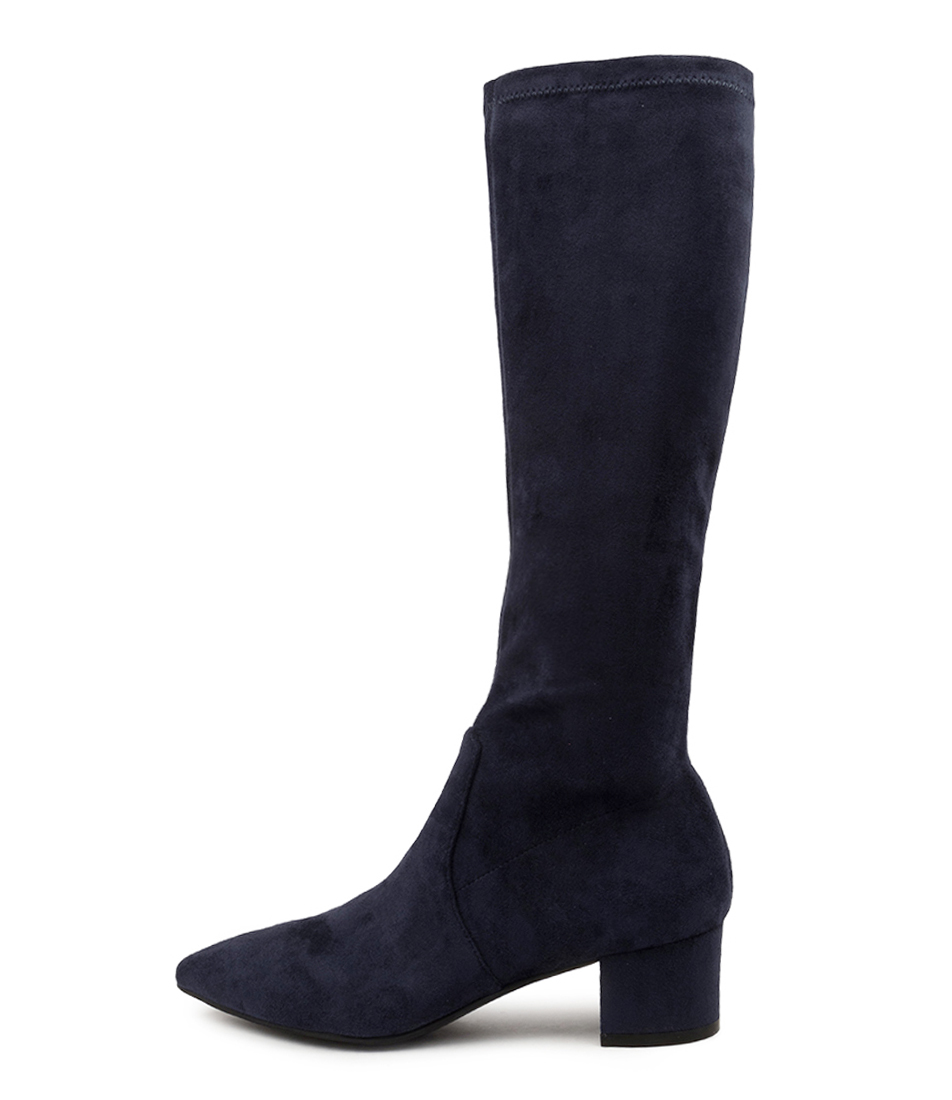 Buy Top End Alia To Navy Long Boots online with free shipping