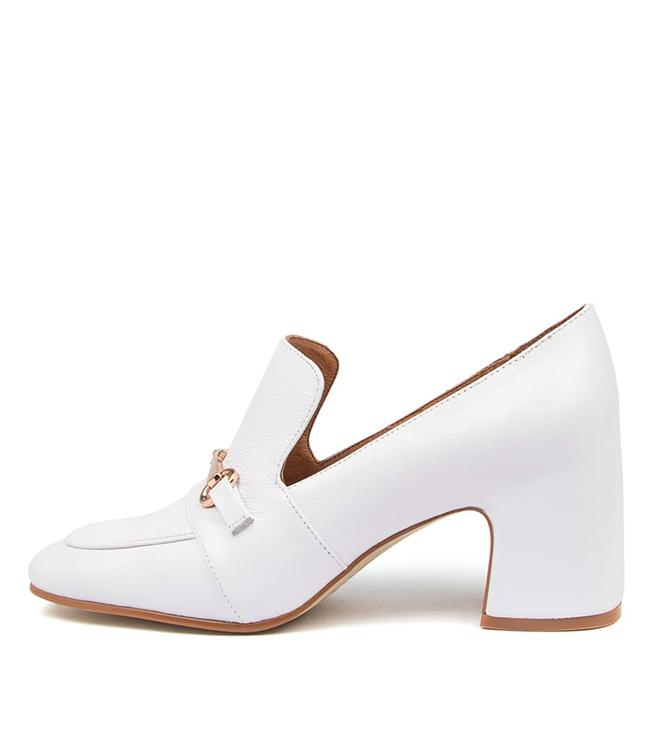 Buy Top End Fina To White High Heels online with free shipping