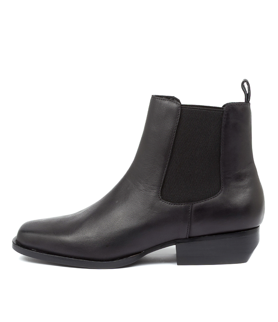 Buy Top End Golly To Black Heel Ankle Boots online with free shipping