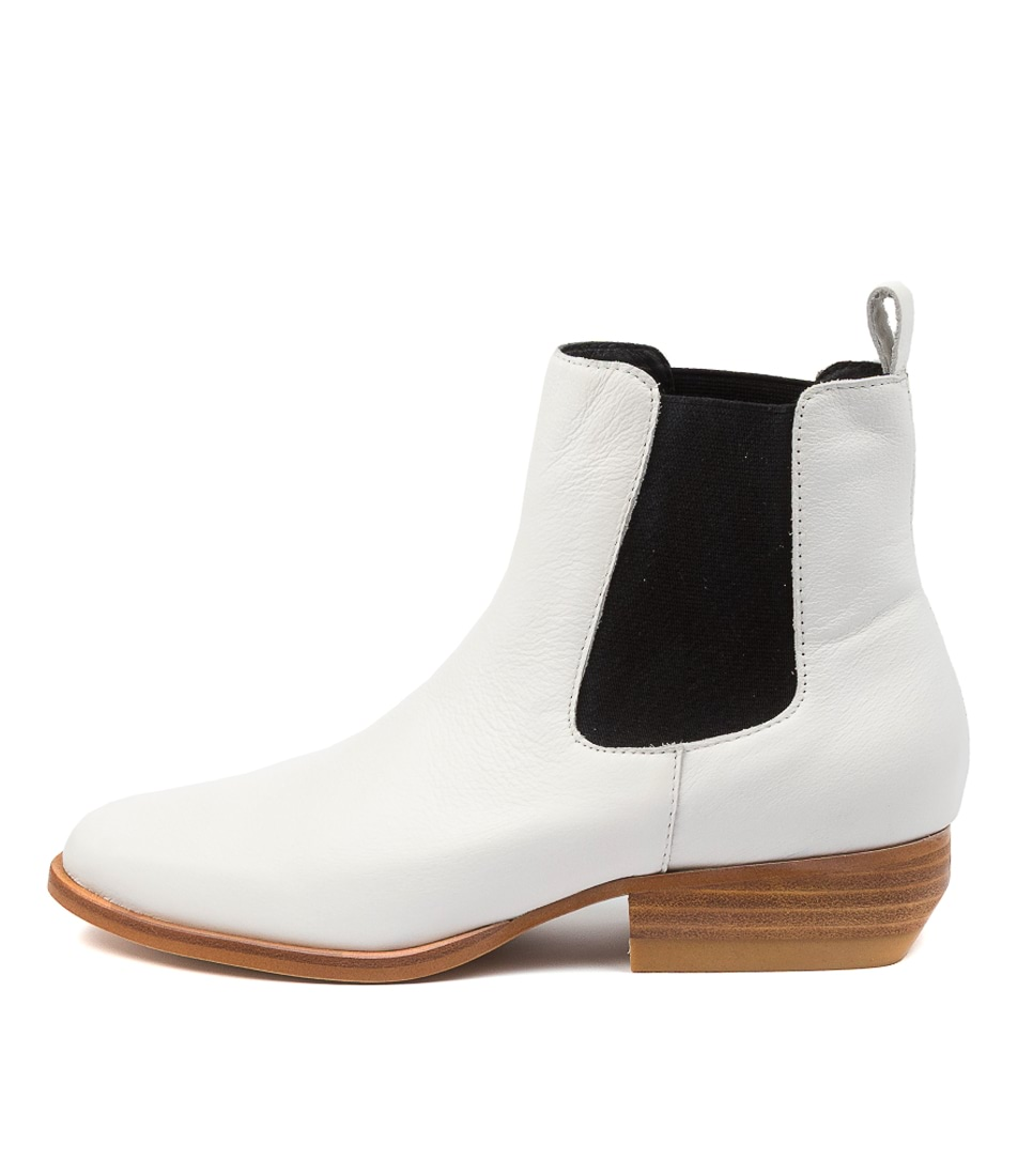 Buy Top End Golly To White Ankle Boots online with free shipping