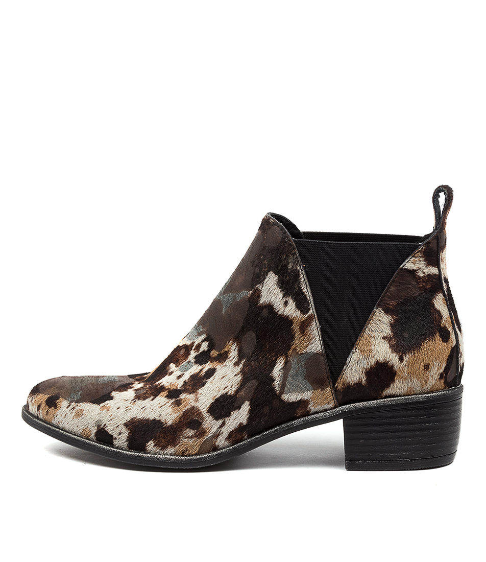 Buy Top End Jeriko To Black & Steel Mix Ankle Boots online with free shipping