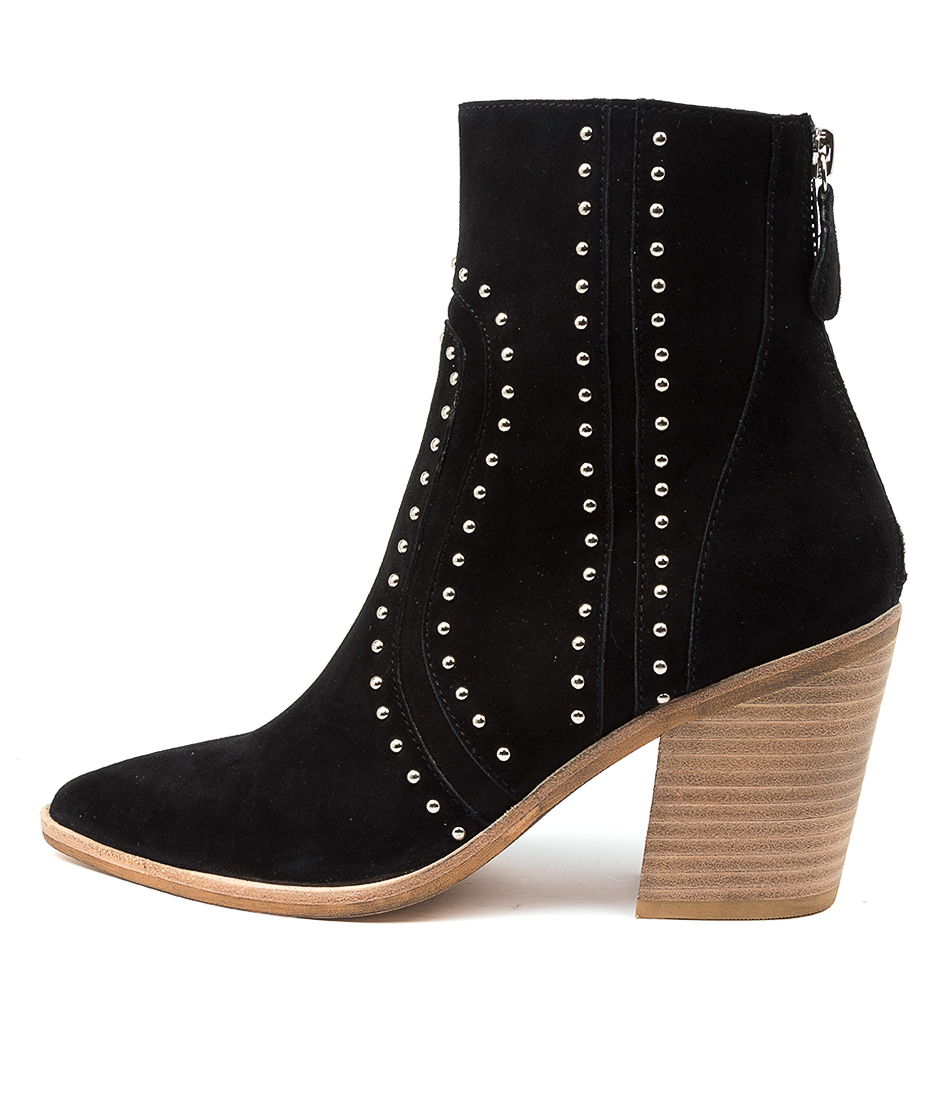 Buy Top End Monsoon To Black Natural Heel Ankle Boots online with free shipping