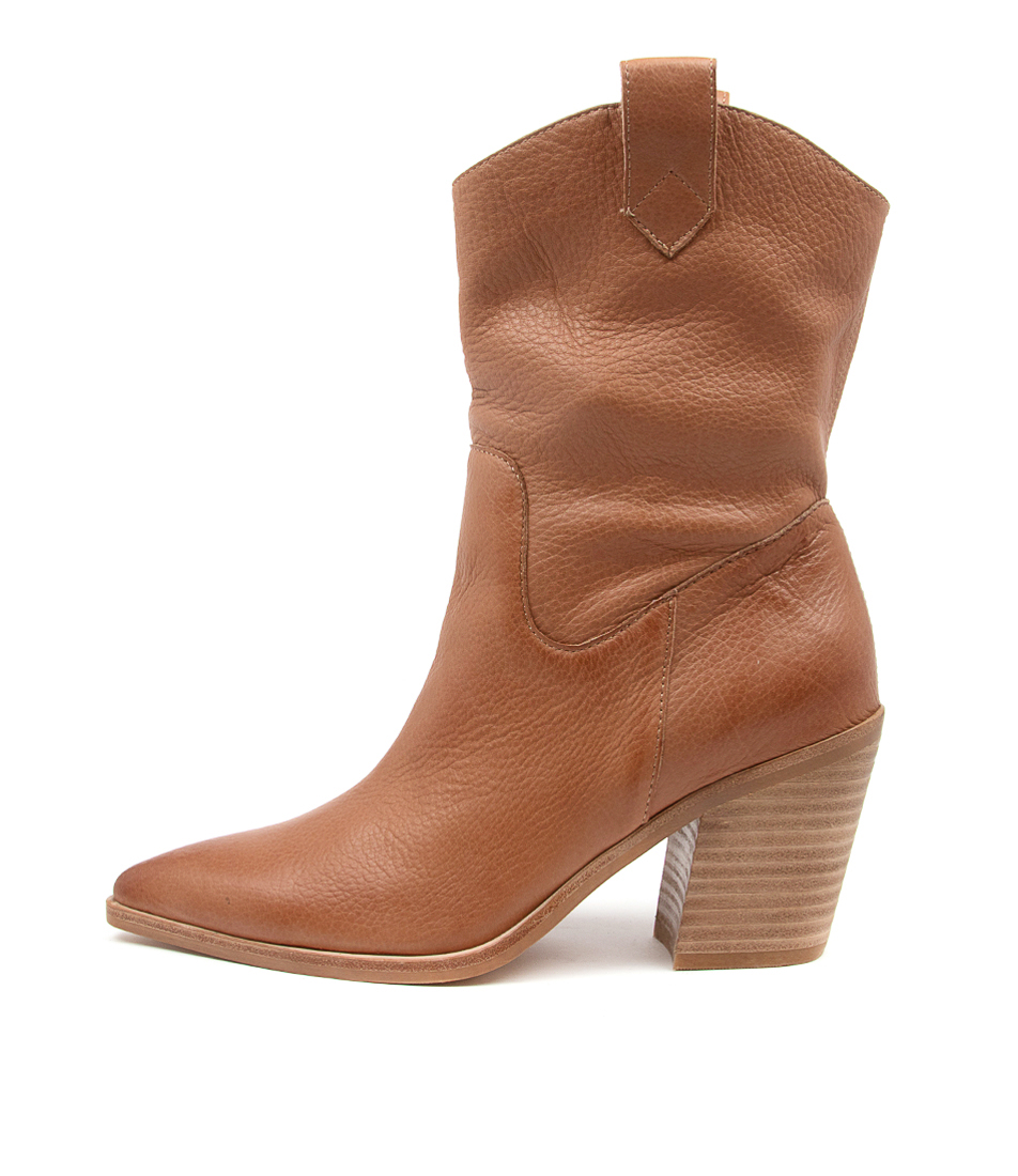 Buy Top End Munchy To Cognac Calf Boots online with free shipping