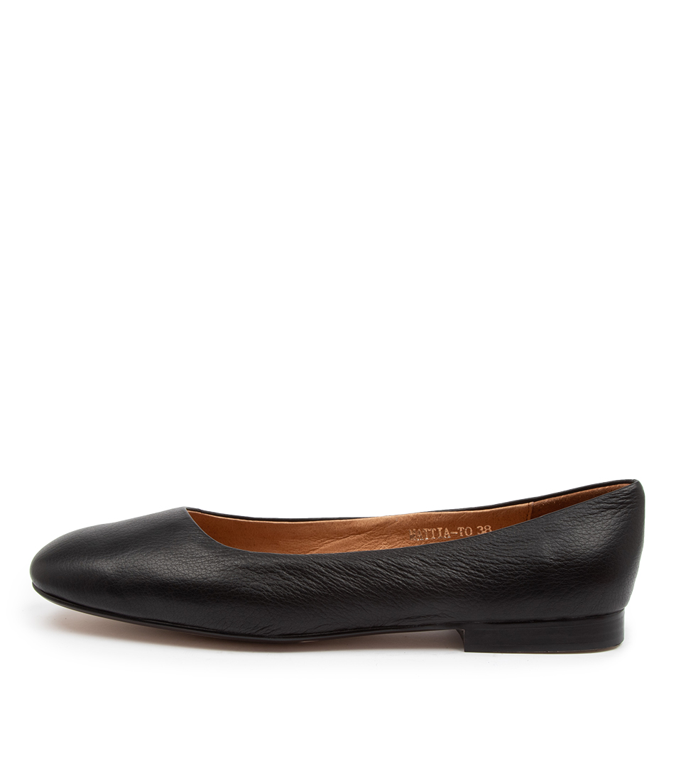 Buy Top End Mattia To Black Flats online with free shipping