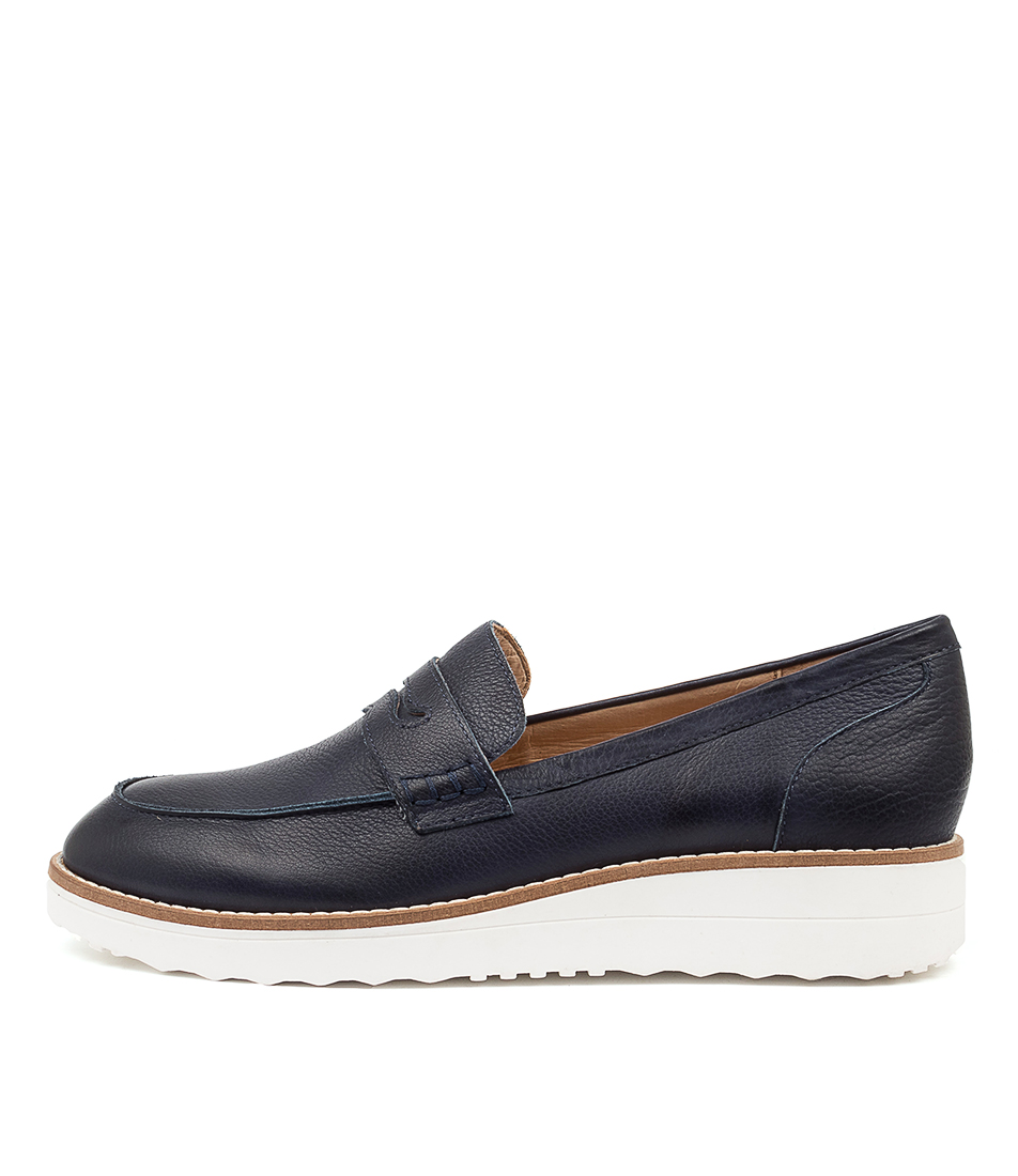 Buy Top End Oley To Navy White Sole Flats online with free shipping