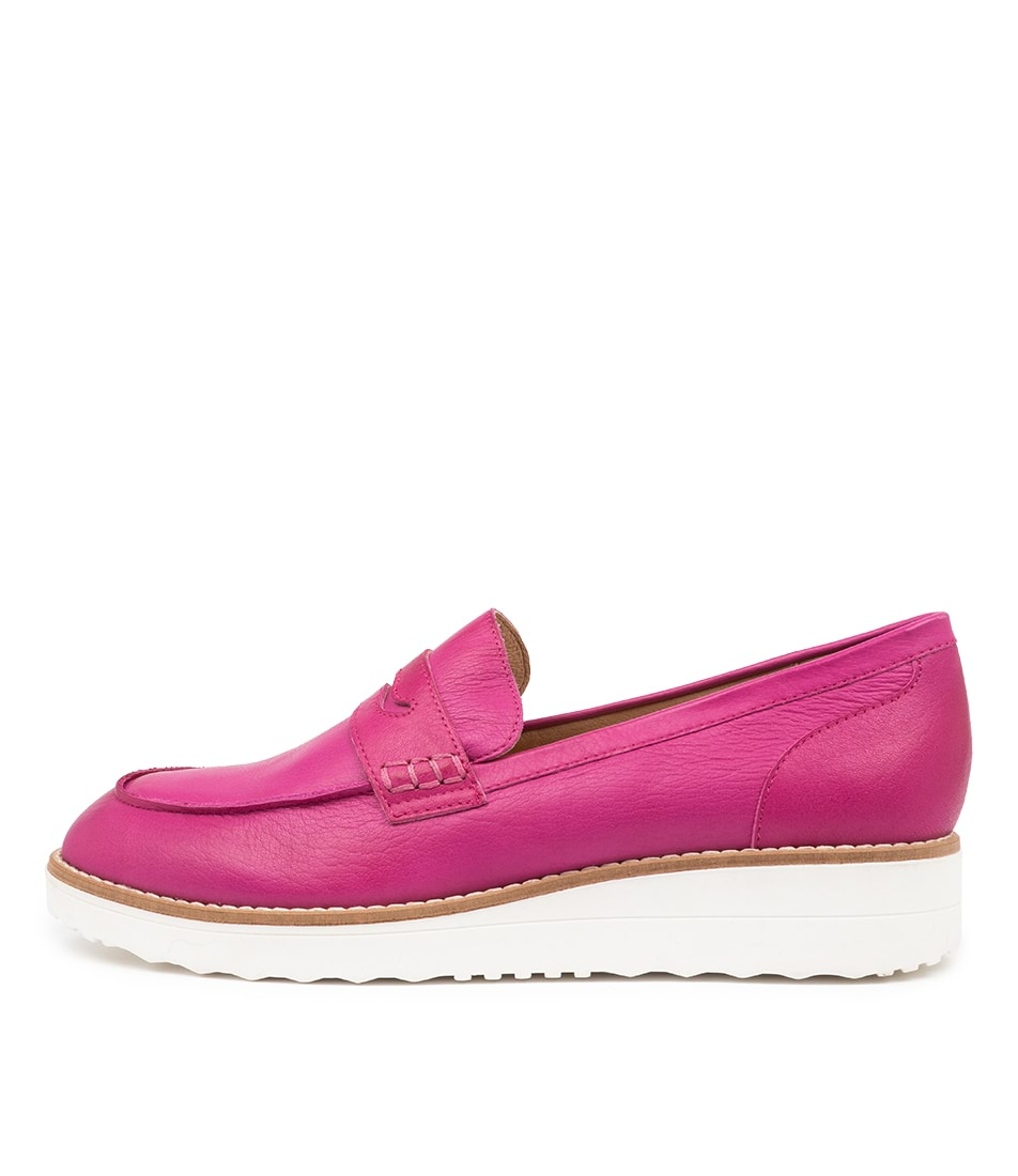 Buy Top End Oley To Fuchsia White Sole Flats online with free shipping