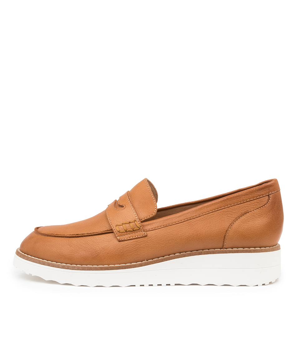 Buy Top End Oley To Dk Tan White So Flats online with free shipping