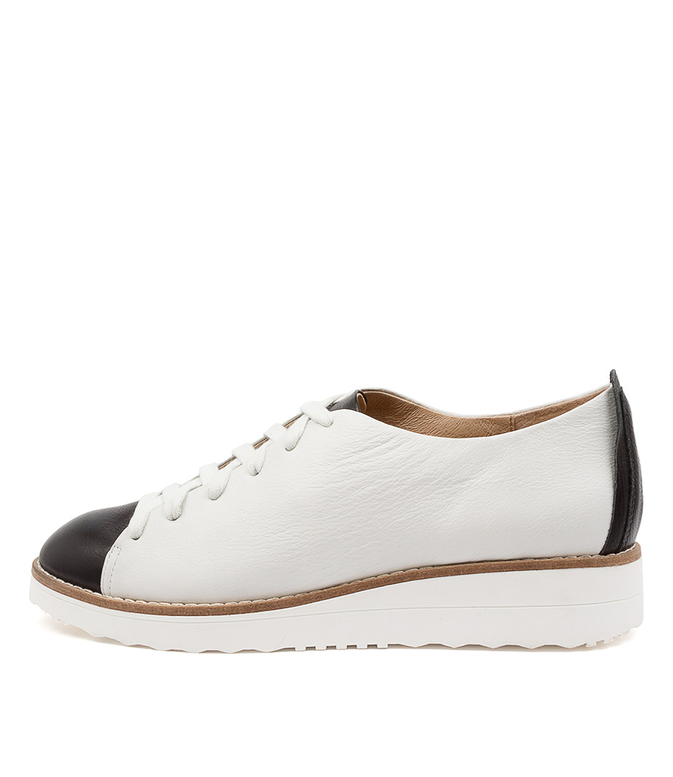 Buy Top End Oaken To Black White Sole Flats online with free shipping
