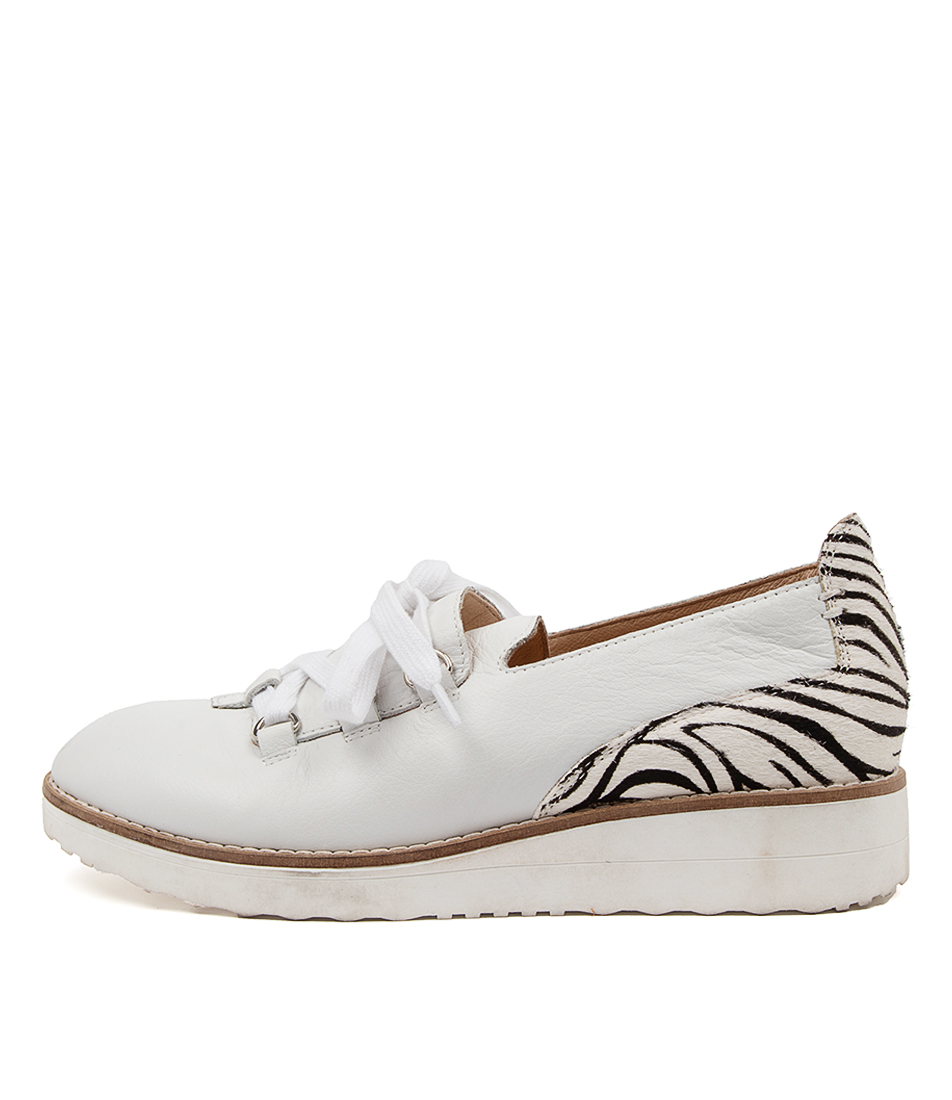 Buy Top End Oranges To White Black & White Zebra Flats online with free shipping