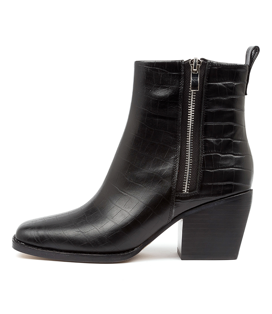 Buy Top End Rima To Black Ankle Boots online with free shipping