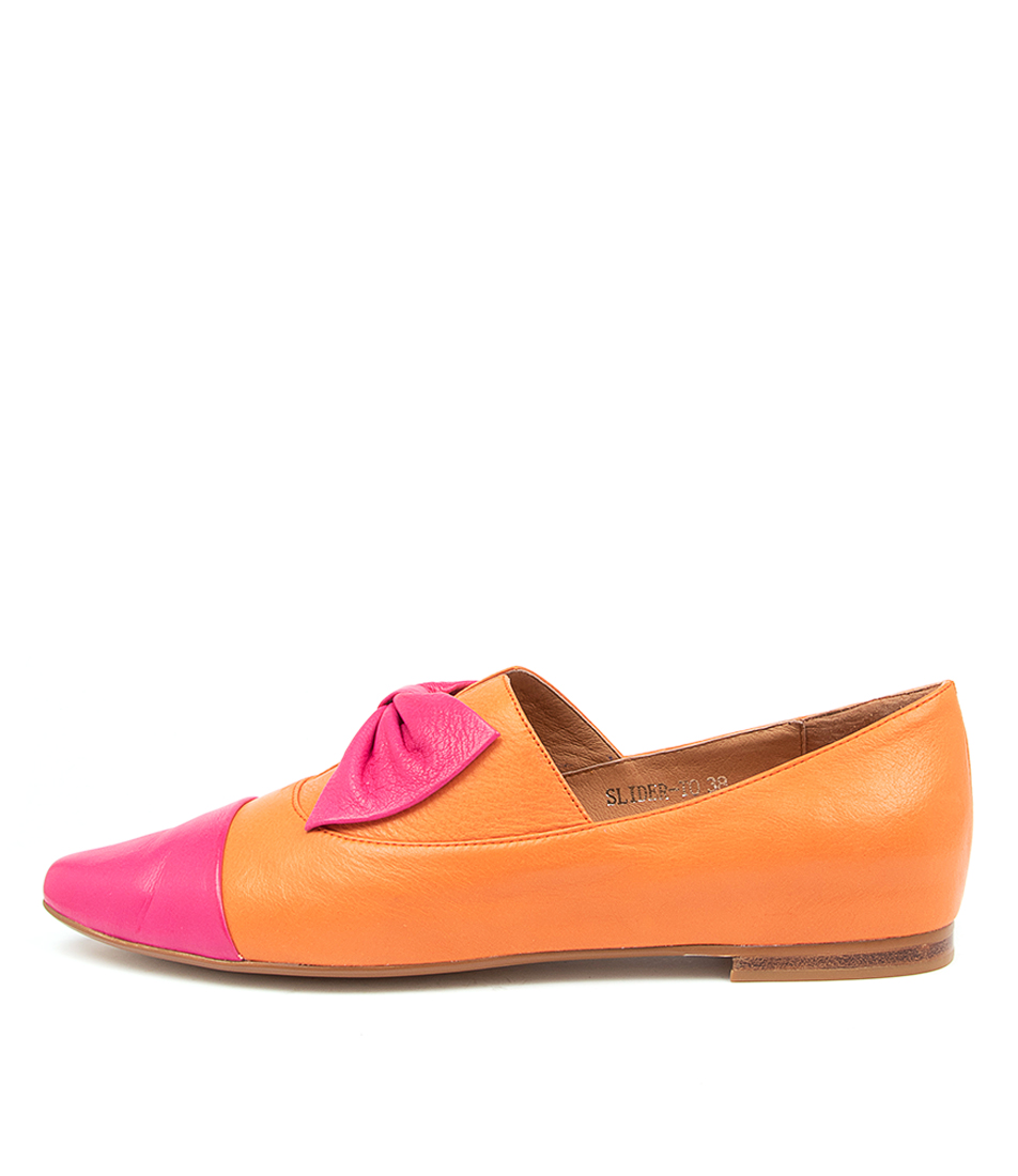Buy Top End Slider To Fuchsia Orange Flats online with free shipping