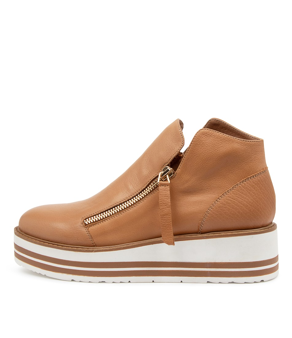 Buy Top End Sibonos To Dk Tan Ankle Boots online with free shipping