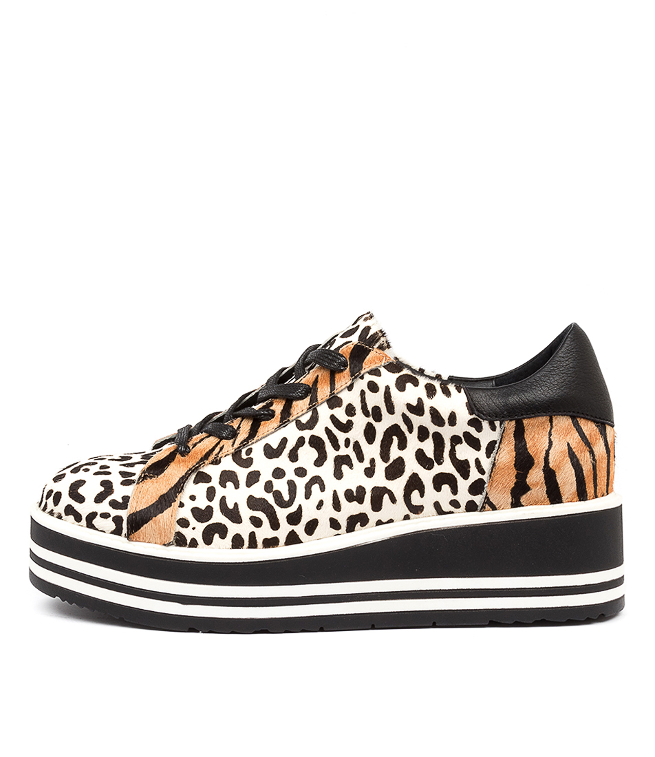 Buy Top End Story To Black & White Leopard Sneakers online with free shipping