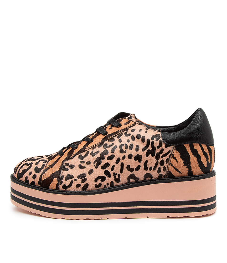 Buy Top End Story To Pink & Black Leopard Sneakers online with free shipping