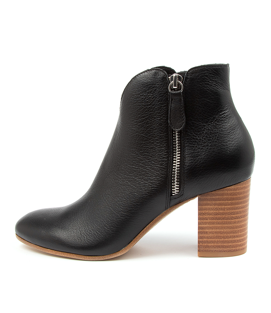 Buy Top End Unicorn To Black Natural Heel Ankle Boots online with free shipping