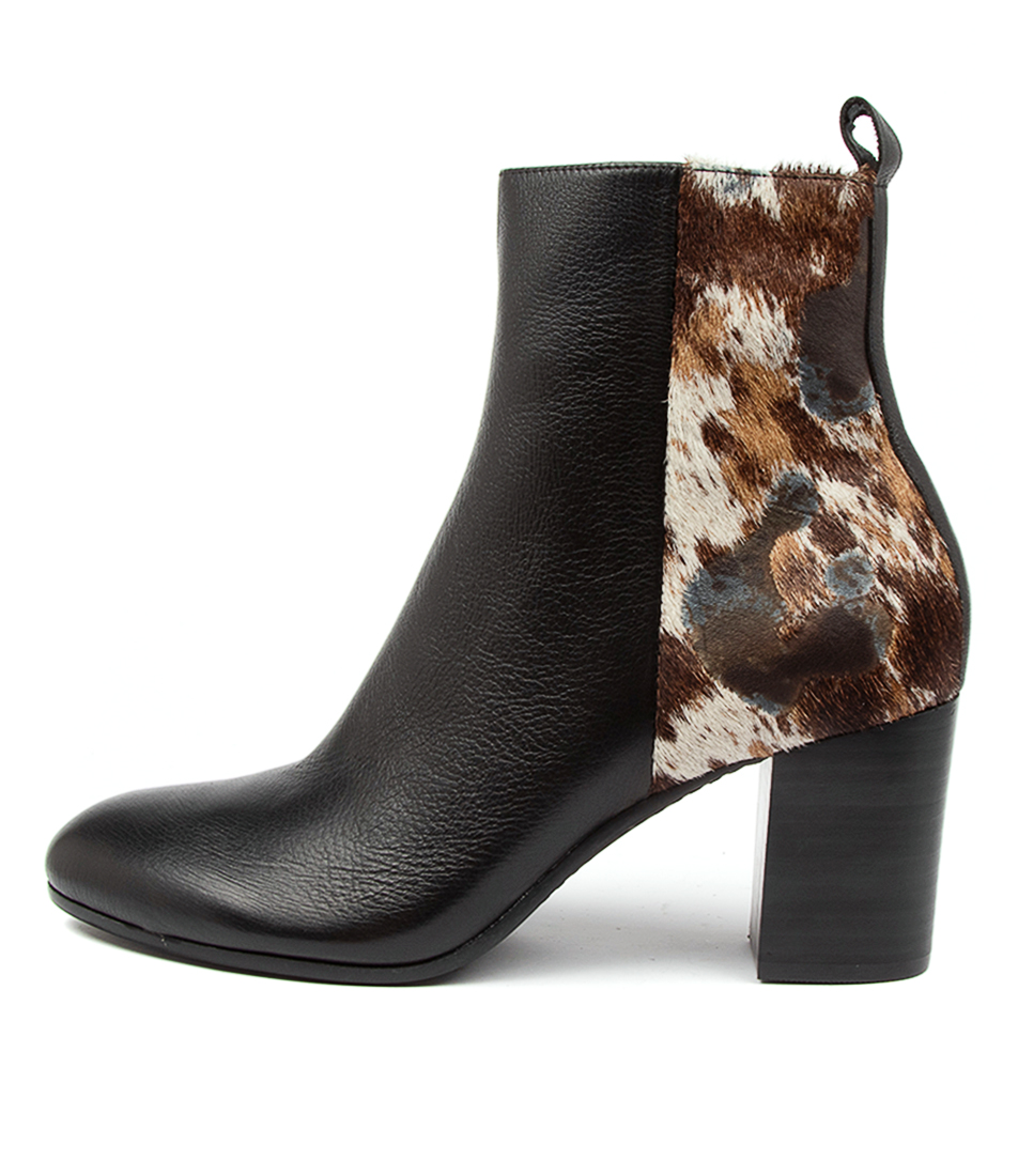 Buy Top End Umesh To Black & Steel Mix Ankle Boots online with free shipping