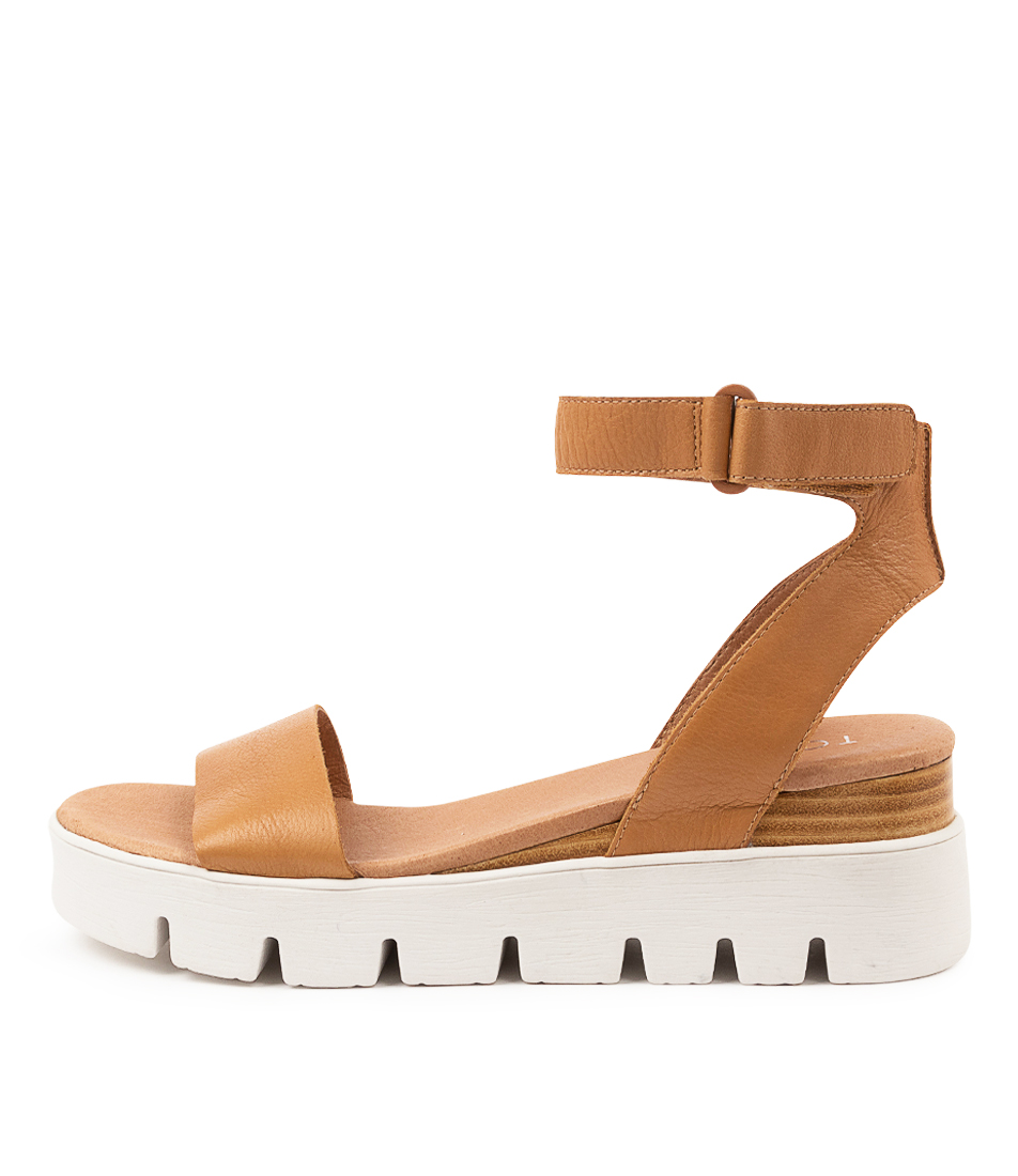 Buy Top End Rylitas To Dk Tan Flat Sandals online with free shipping