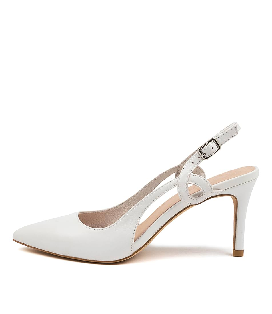 Buy Top End Boyce To White High Heels online with free shipping