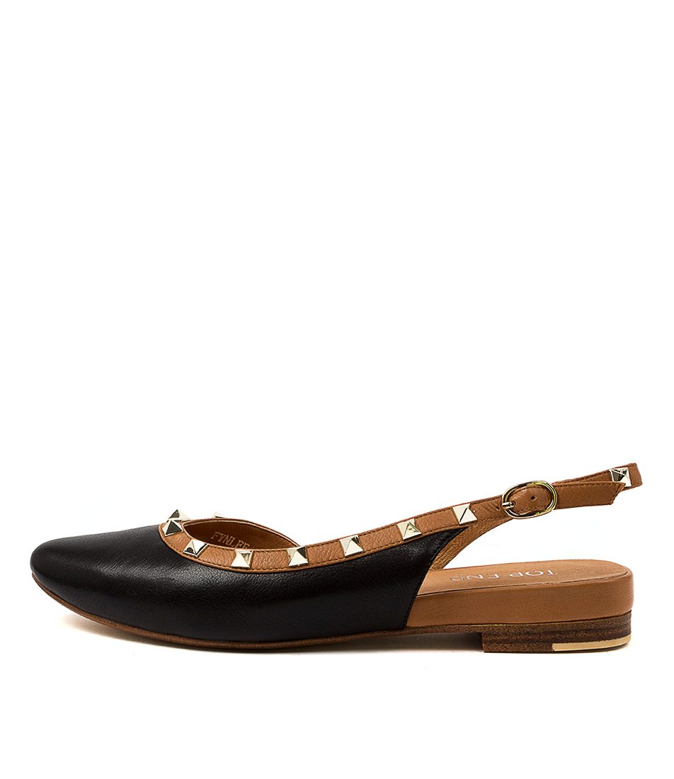 Buy Top End Fynlee To Black Dk Tan Flats online with free shipping