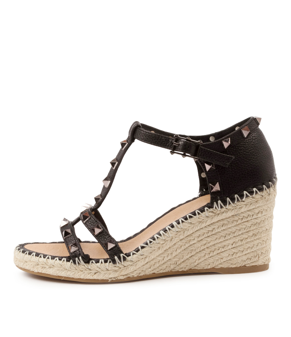 Buy Top End Garvit To Black Heeled Sandals online with free shipping