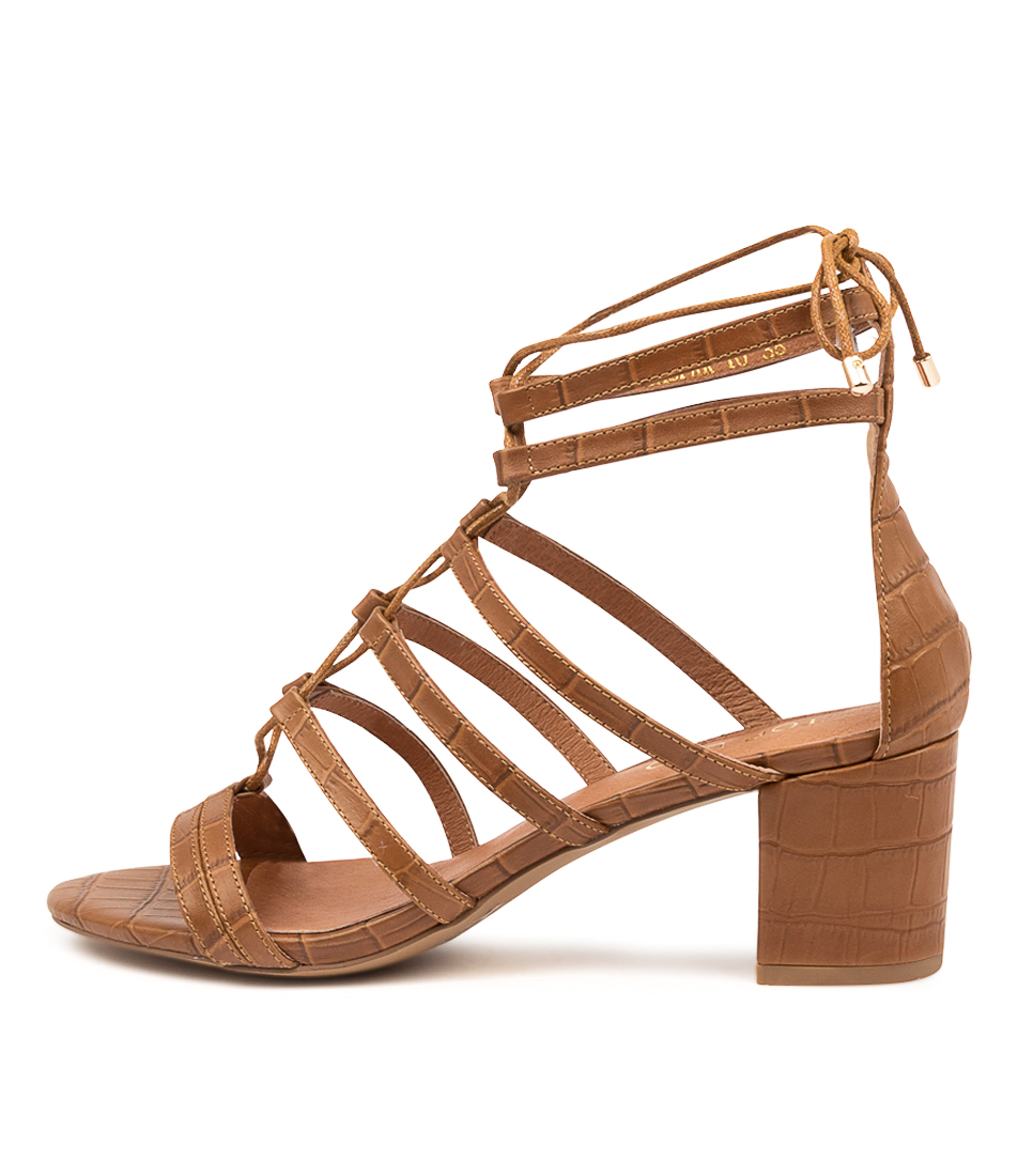Buy Top End Gaspar To Tan Heeled Sandals online with free shipping