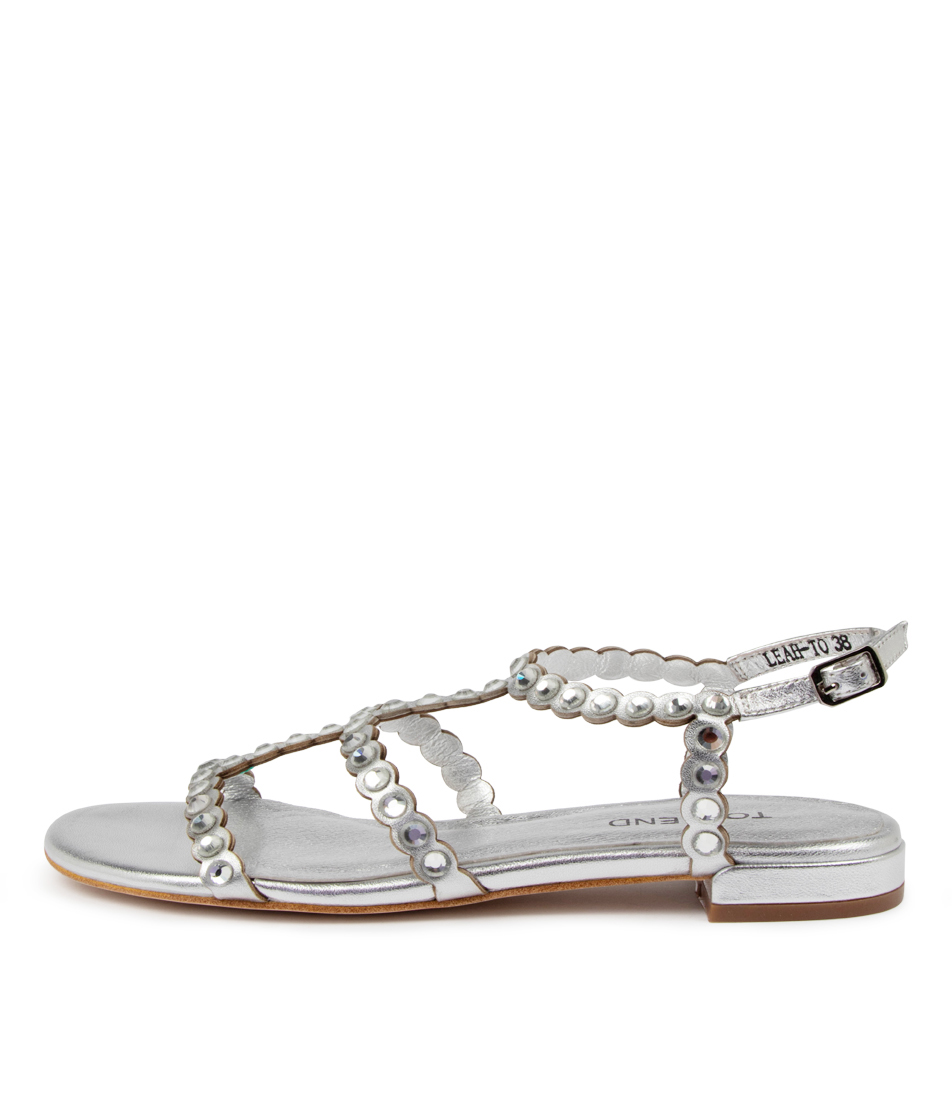 Buy Top End Leah To Silver Clear Sandals Flat Sandals online with free shipping
