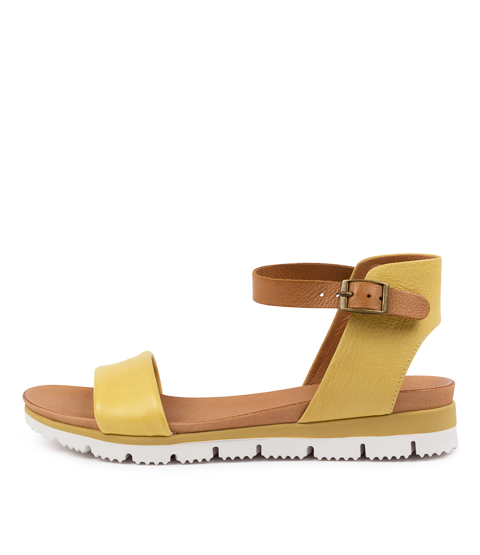 Buy Top End London To Yellow Tan Flat Sandals online with free shipping