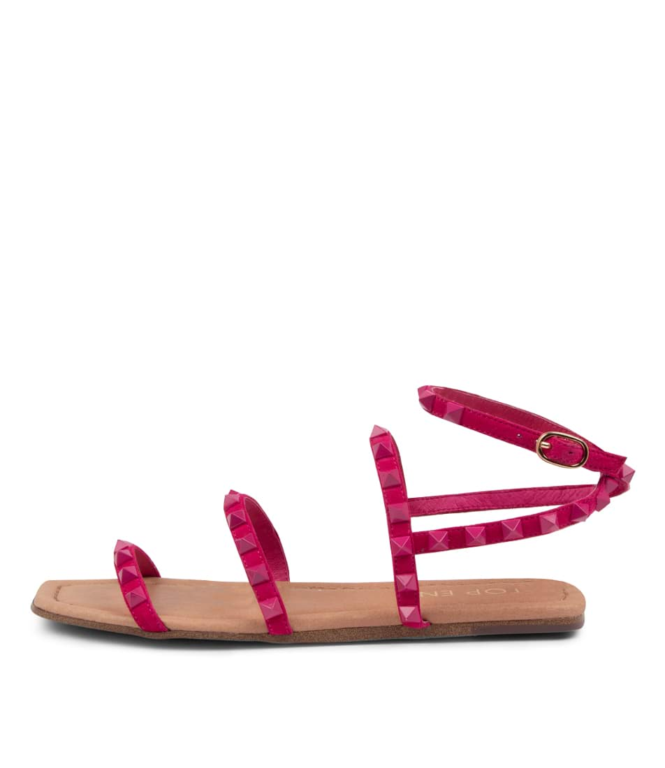Buy Top End Lynnox To Fuchsia Fuchsia Flat Sandals online with free shipping
