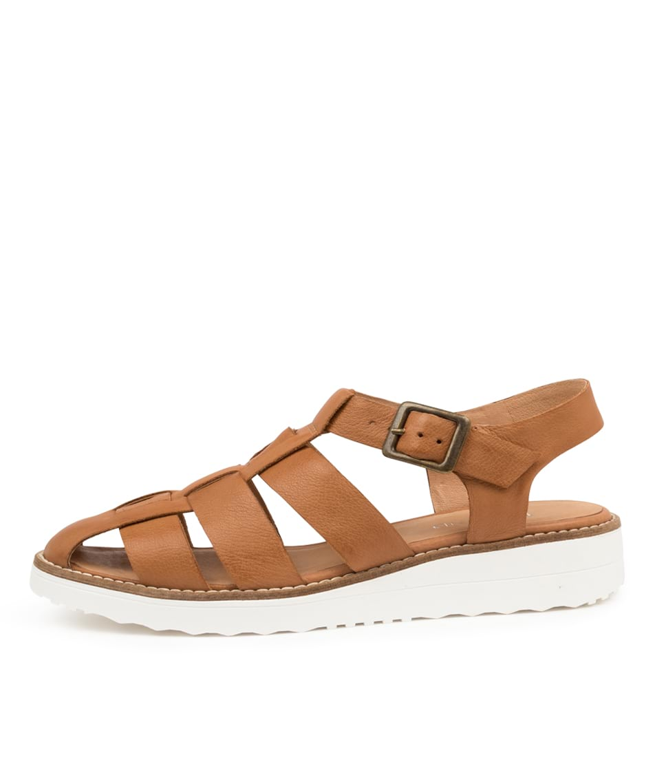 Buy Top End Oggy To Dk Tan Flats online with free shipping