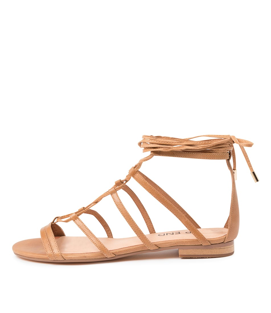 Buy Top End Patton To Tan Flat Sandals online with free shipping