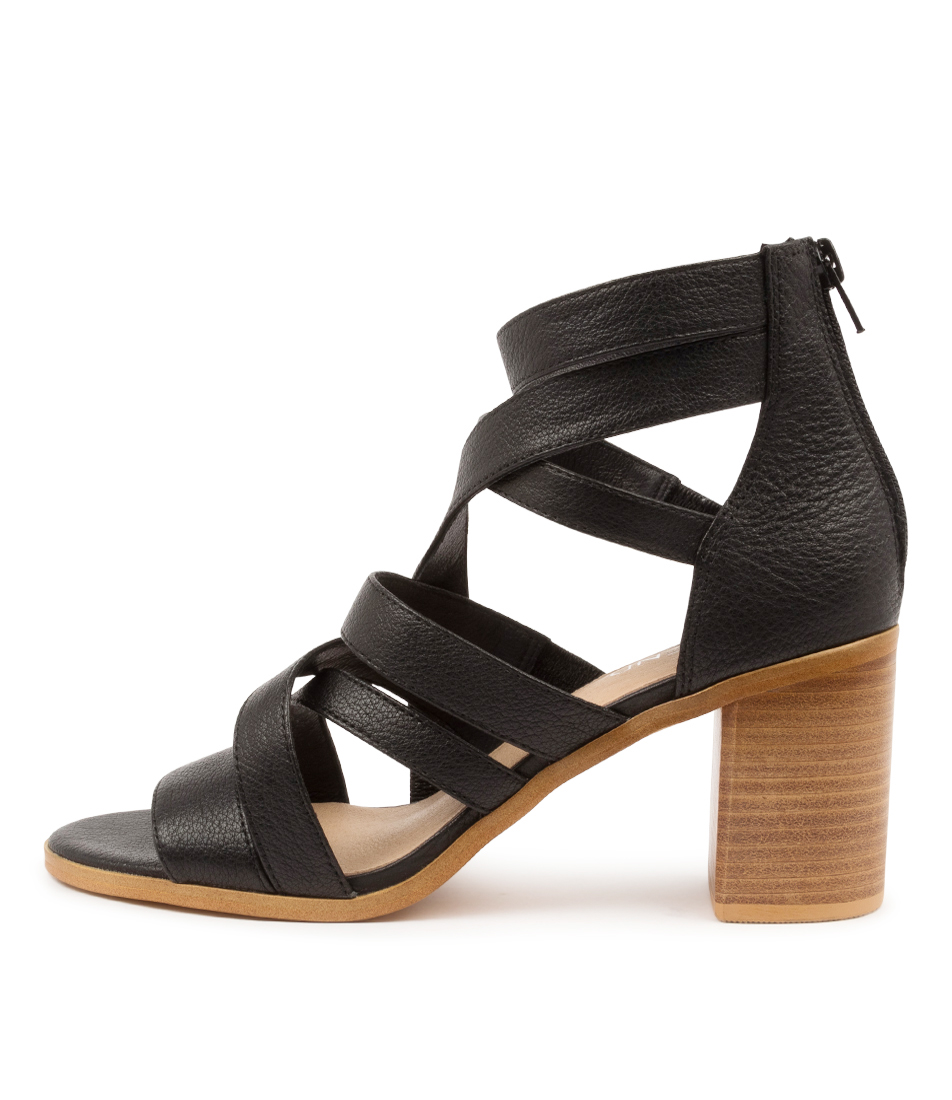 Buy Top End Witt To Black Dk Natural Heel Heeled Sandals online with free shipping