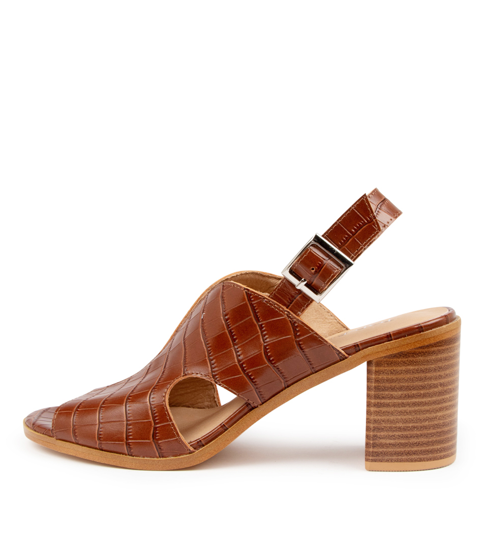 Buy Top End Wyat To Tan Heeled Sandals online with free shipping