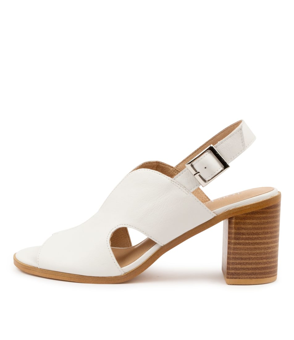 Buy Top End Wyat To White Heeled Sandals online with free shipping