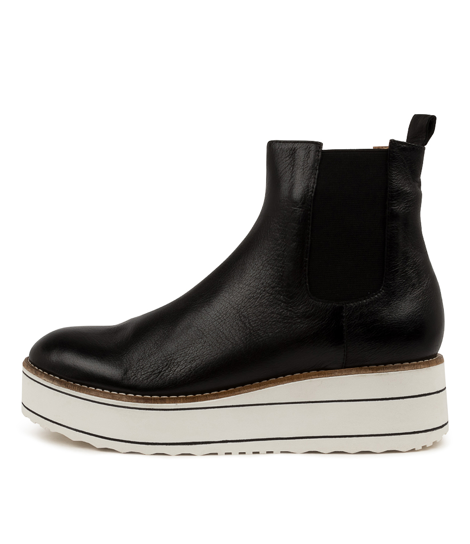 Buy Top End Nisa To Black White Sole Ankle Boots online with free shipping