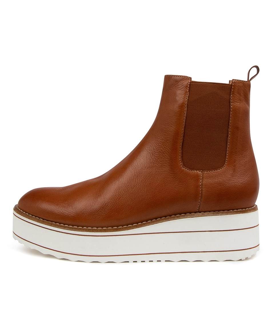 Buy Top End Nisa To Tan White Sole Ankle Boots online with free shipping