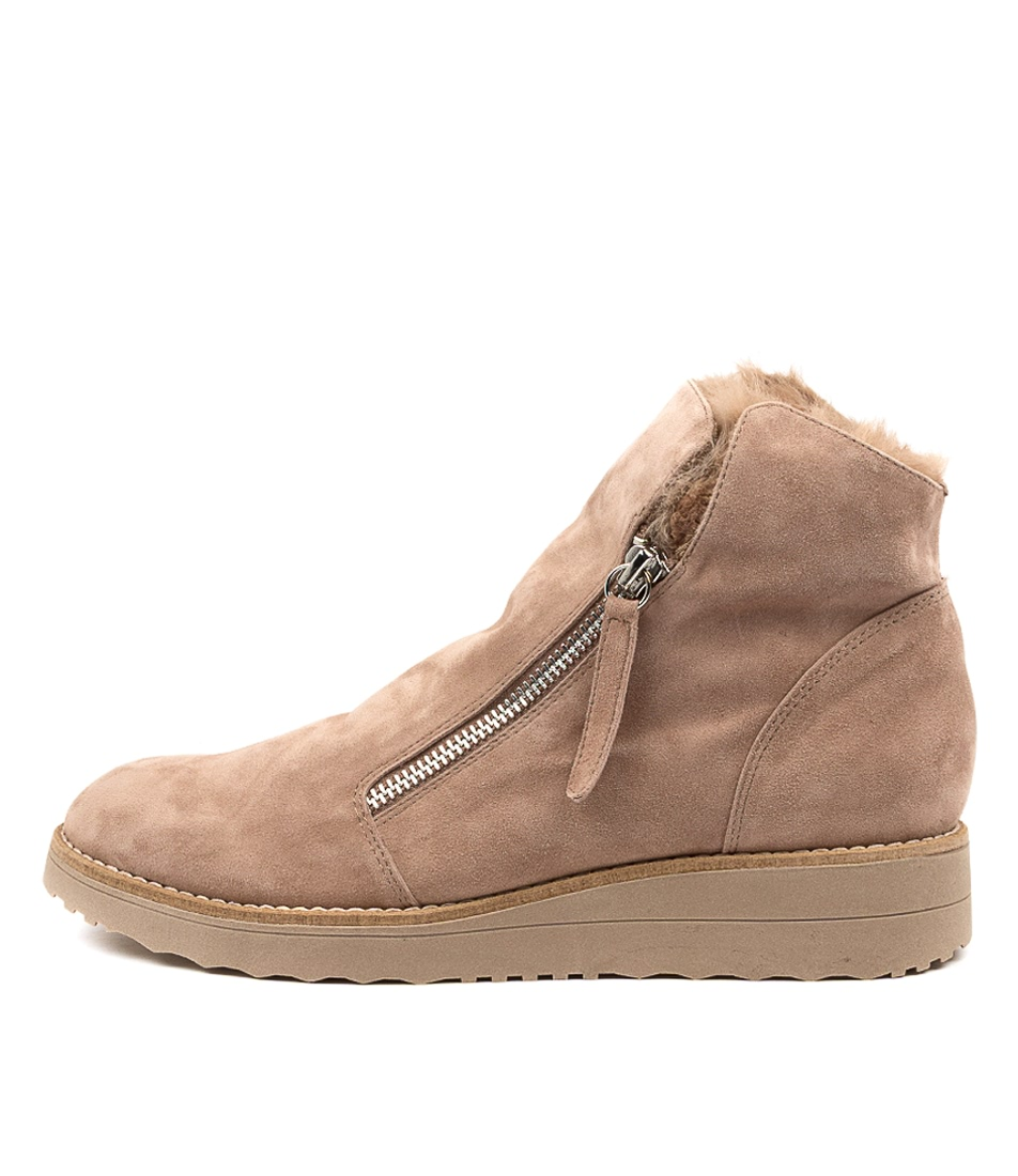 Buy Top End Opal To Taupe Taupe Ankle Boots online with free shipping
