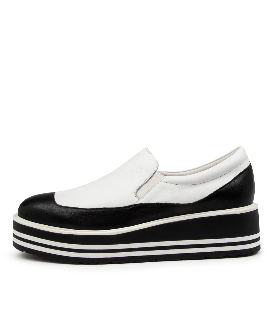 Buy Top End Stormy To Black White Flats online with free shipping