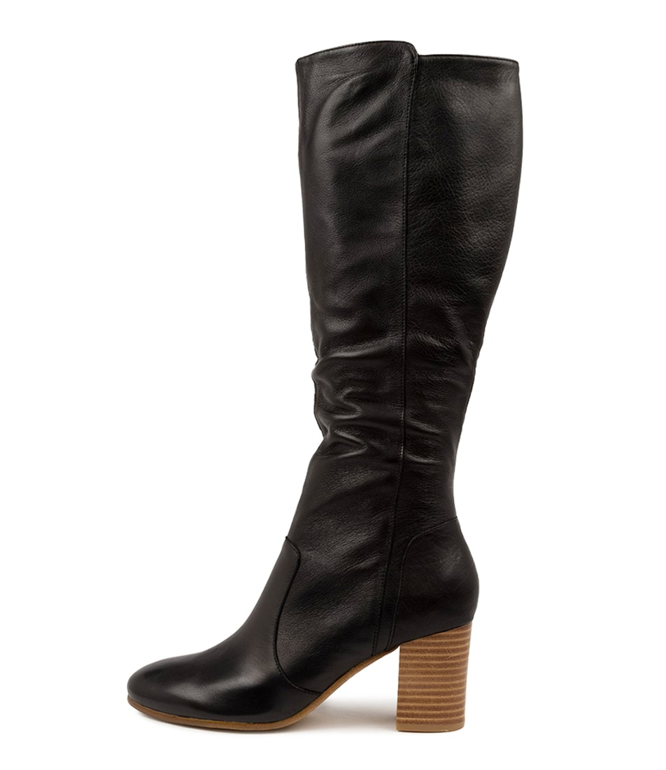 Buy Top End Ucan To Black Natural Heel Long Boots online with free shipping