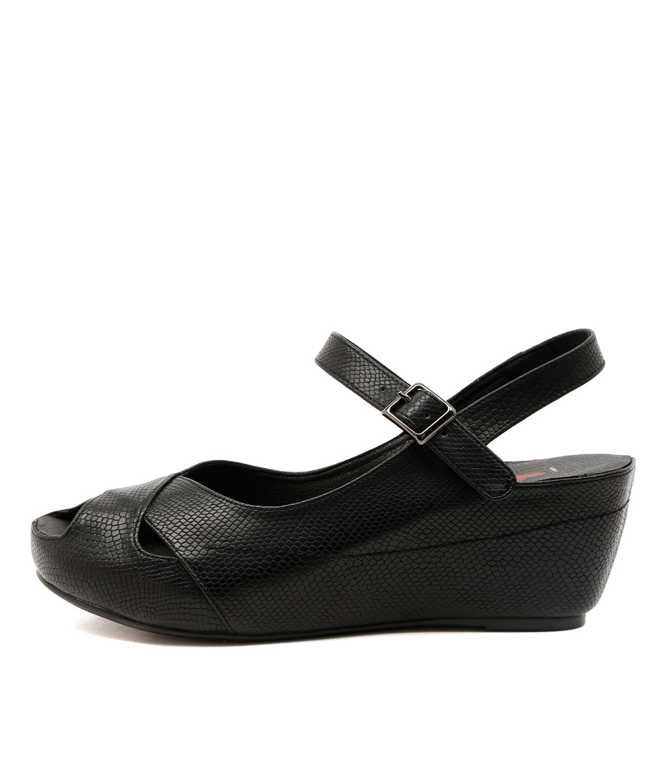 I Love Billy Togel Black Casual Heeled Shoes