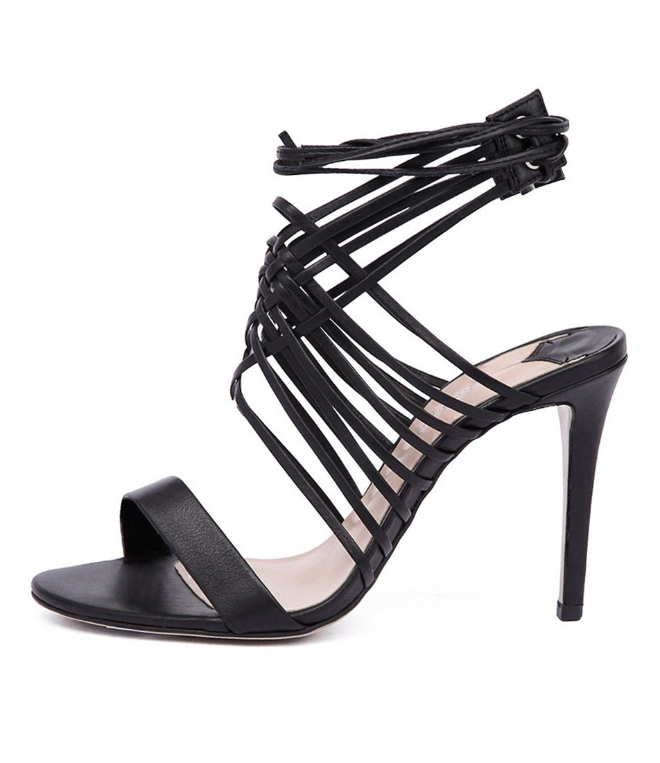 Tony Bianco Laruse Black Dress Heeled Sandals