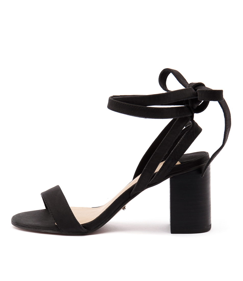 Tony Bianco Fortune Black Casual Heeled Sandals