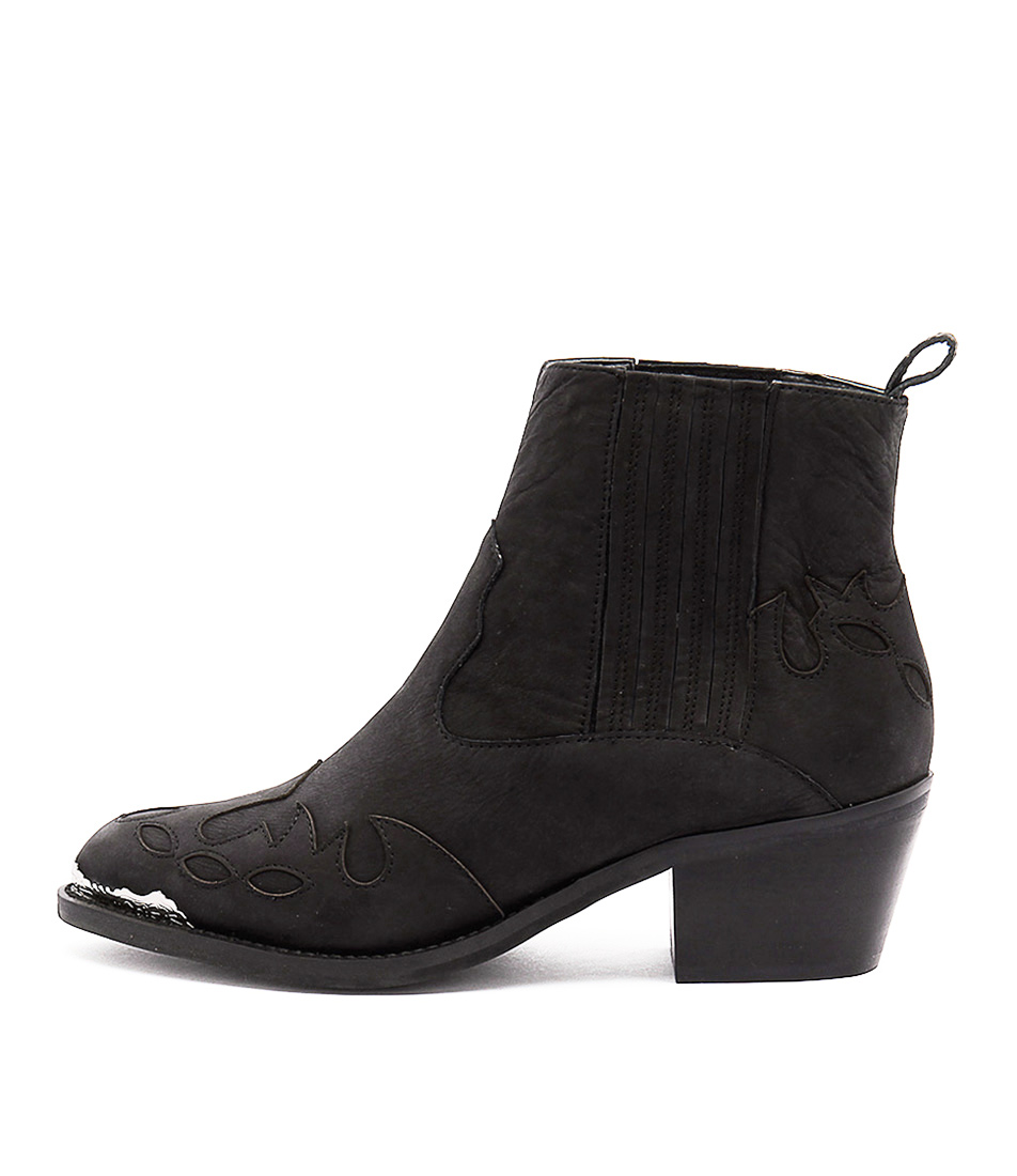 Tony Bianco Frolic Black Casual Ankle Boots