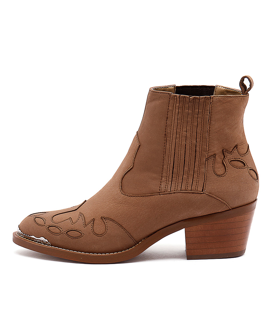 Tony Bianco Frolic Caramel Casual Ankle Boots