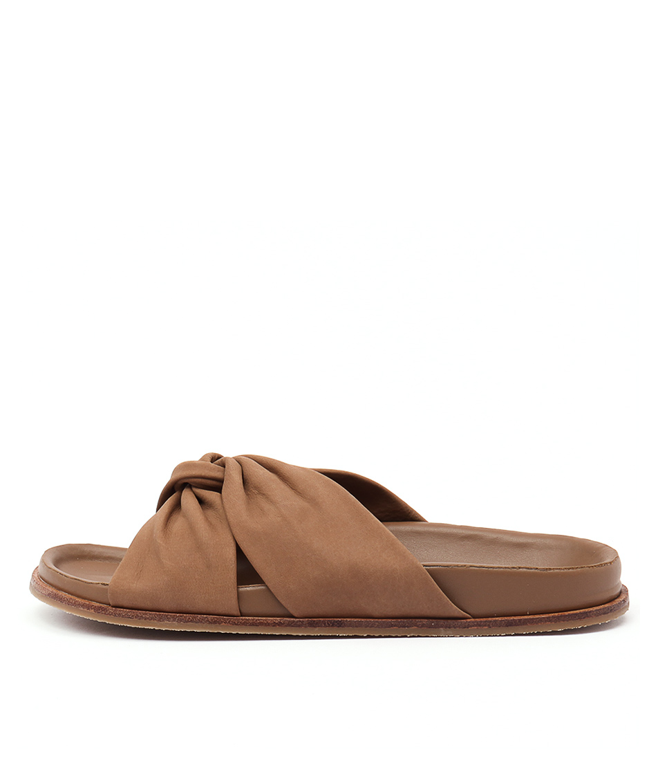 Tony Bianco Tallulah Caramel Casual Flat Sandals