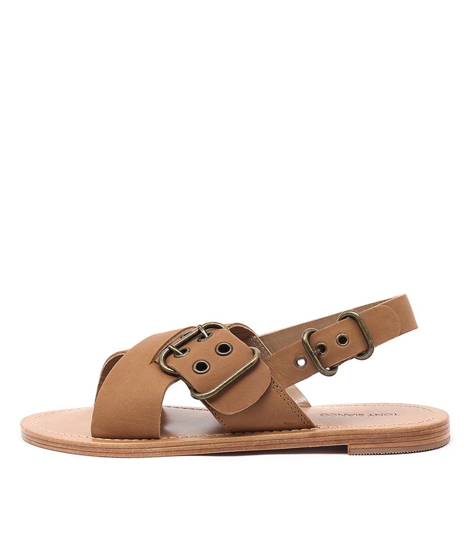 Tony Bianco Tiga Tan Flat Sandals