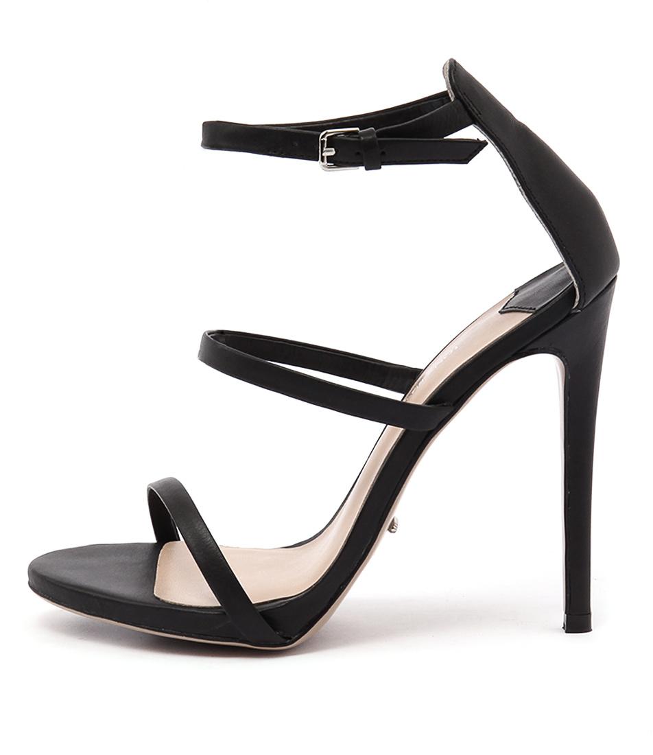 Tony Bianco Atkins Black Heeled Sandals