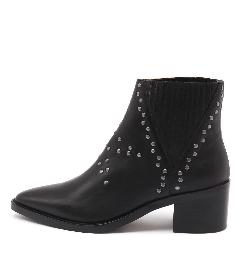 Tony Bianco Simbai Black Casual Ankle Boots